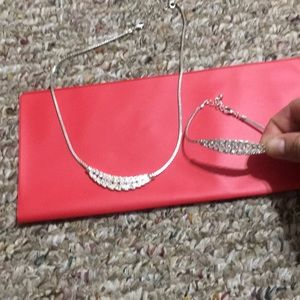 Jewelry - Necklace and bracelet. NOT sterling silver